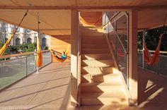 A house full of hammocks