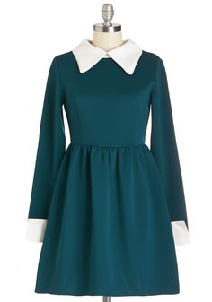 Far Haute Dress in Teal. Take your nine-to-five wardrobe to haute new heights by flaunting this teal dress from Kling at the office! #green #modcloth