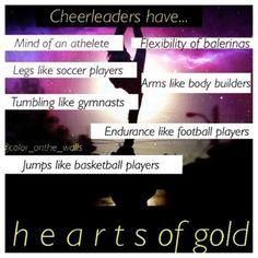 Cheerleading. Cheer quotes. Cheerleaders have...