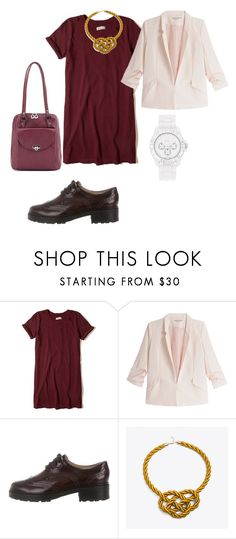 """Burgundy outfit for Mila"" by katerina-kalugina on Polyvore featuring Hollister Co., Naf Naf, Michael Kors, ApreciouZ and Geneva"