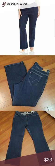 Levi's Plus size 580 Bootcut Jeans Levi's 580 Plus Size Bootcut jeans  Measurements unstretched  Waist18 inches across  Hips 21 inches across  Rise 11 1/2 inches Inseam 31 inches Levi's Jeans Boot Cut