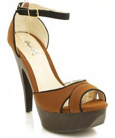 QUPID Impress-188 Open Toe Sandal RUST (8) Room Of Fashion…