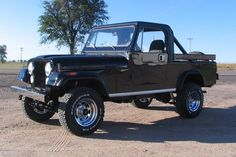 1981-1985 Jeep CJ-8 Scrambler Today, Jeep forums are clogged with speculative posts about a possible pickup truck version of the next Wrangler. Enthusiasts have yearned for the return of the Jeep pickup for decades—ever since this one went away.  In the early 1980s, Jeep needed a small pickup to compete in that new market segment. Transforming the CJ-7 into something for hauling by stretching the wheelbase by 10 inches and grafting a longer pickup truck-like body with wooden stake bedsides.