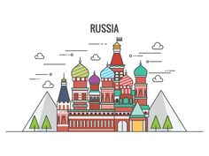St. Basil's Cathedral Russia by Jona Sanyoto #Design Popular #Dribbble #shots