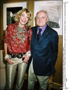 Loulou de la Falaise avec Pierre Bergé en 2004