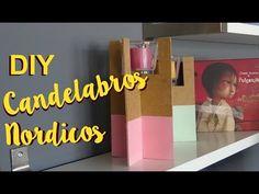 Candelabros Nórdicos. DIY ( Plantilla incluida ) - YouTube