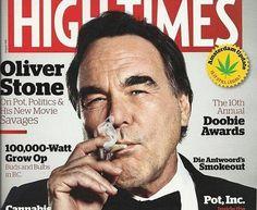 Oliver Stone fumando maconha na capa da High Times