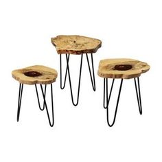 Dimond Home Teak Nesting Tables