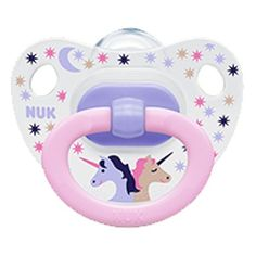 NUK Baby Months Silicone Unicorn Pink Soother Girl Toddler Our bestseller NUK Pacifier – the pink UNICORN pacifier. We also have it for months and months babies. Baby Sucker, Nuk Pacifier, Baby Pacifiers, Pacifier Clips, Baby Binky, Baby Doll Toys, Baby Supplies, Baby Bottles, Baby Toys