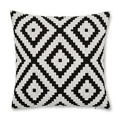 Designed with a striking geometric pattern in a modern black and white colourway, this contemporary cushion cover features an intricate woven texture and a plai. White Cushion Covers, Sofa Cushion Covers, Bedroom Cushions, Cushions On Sofa, Orange Living Room Sofas, Contemporary Cushion Covers, Black And White Cushions, Style Marocain, Orange Sofa