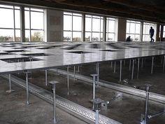 Raised floor being installed.  Windowed Data Center???