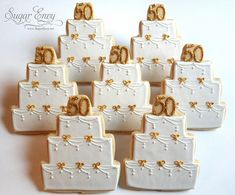 Wedding Anniversary Cookie Favors images of flower cookies 50th Anniversary Cookies, 50th Wedding Anniversary Decorations, Anniversary Party Favors, Wedding Anniversary Celebration, Anniversary Ideas, Anniversary Centerpieces, Wedding Aniversary, Cookie Favors, Cake Cookies