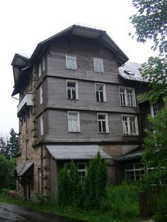Hundseck Hotel, Germany. Deep in the heart of Deutschland near Bühlertal, this rambling once-popular ski resort in the thickly forested mountains is an eerie reminder of the region's good old days. The grand old fin de siècle hotel operated until 1957, when it was converted to a camp for miners; it became a youth hostel in 1982, then finally shuttered in 2001.