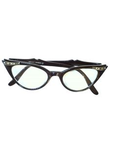 50s Cat Eye Glasses | 50s style (made new recently) -Kiss- Womens clear lens cat eye glasses ...