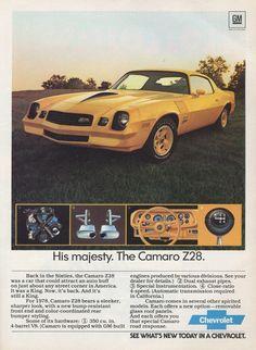 1978 Chevrolet Camaro Z28 ad