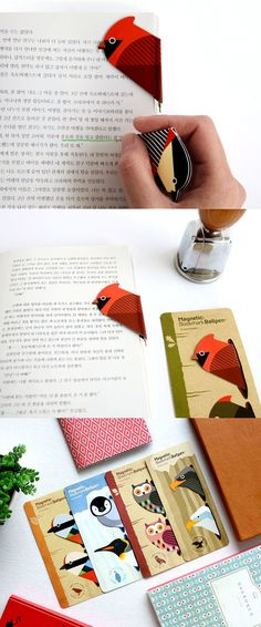 The Bird Magnetic Bookmark Pen is a really unique, and creative! This pen has a shape of a bird that can work as a bookmark! Simply use the clip to bookmark the page, and when you need to make a quick memo, take out the bookmark to start writing!