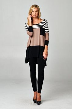 Sarah Top in Taupe - Catch Bliss Boutique $32  with <3 from JDzigner www.jdzigner.com