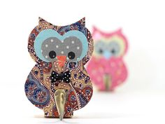 Owl Hook Hanger  Wooden Animal Owl Boys room by PrettymShop
