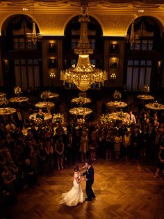 Bride & Groom during their first dance at the Union League in Philadelphia, PA by Philadelphia Wedding Photographer, Daniel Moyer Photography.