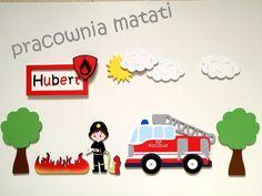 Zestaw dekoracji dla małego miłośnika straży pożarnej