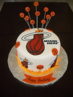 miami heat basketball cake | Heat Cakes!