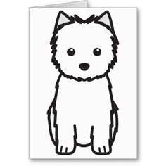 Cairn Terrier Dog Cartoon Cards