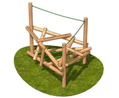 Clamber Stack 4 - timber climbing frame - SSP. Specialised Sports Products - on ESI.info