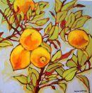 Five Lemons...  Original: sold  Acrylic 16 x 16  Reproduction: $115.00      16 x 16