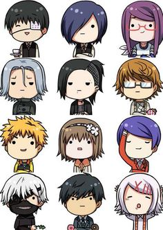 Kaneki and the other characters. They're SOOOO KAWAII when they're in Chibi form. ☺☺