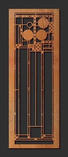 Laser Cut Wood Elements : Coonley A | Frank Lloyd Wright