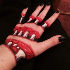 Hand made to look torn and disfigured by using makeup - Imgur