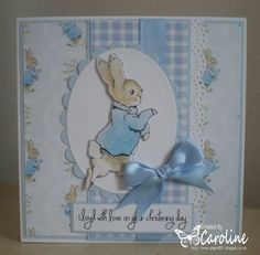 Peter Rabbit Christening Card by: angel4031