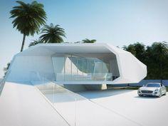 Küstenhaus minimalistische Architektur