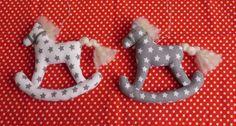 látkové koníky od Zdenka  0705 |  Vianočné dekorácie | Artmama.sk