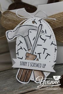 Yvonne is Stampin' & Scrapping: Stampin' Up! Nailed it! tag #stampinup