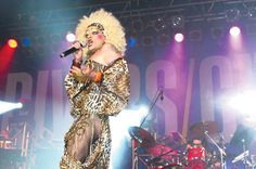 Mado, Montreal's reigning drag queen, performs at Divers/Cité, the city's LGBT arts and culture festival