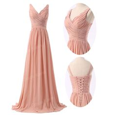 Elegant Bridesmaid Bridal dress Chiffon Vintage Evening Party Long Wedding Dress