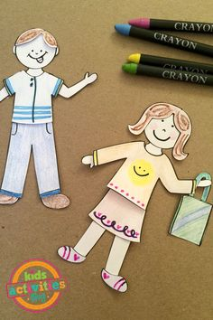 Design My Own Paper Doll Set- what a great way to encourage imaginative play!