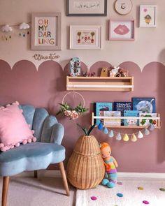 Toddler Room Decor, Toddler Playroom, Kids Decor, Home Decor, Mermaid Bedroom, Big Girl Rooms, Kids Rooms, Pink Room, Farrow Ball