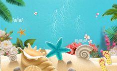 Isla Mar Estrella de mar Star Antecedentes Under The Sea Background, Free Background Photos, Beach Background, Cartoon Background, Background Powerpoint, Background Templates, Summer Backgrounds, Colorful Backgrounds, Cards