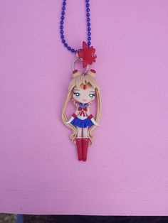 Sailor moon necklace in fimo, polymer clay