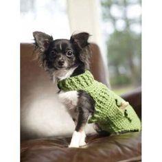 Miss Julia's Vintage Knit & Crochet Patterns: Free Patterns - Dog Sweater Coats to Knit & Crochet Diy Crochet Dog Sweater, Crochet Dog Clothes, Dog Sweater Pattern, Dog Pattern, Knit Crochet, Sweater Patterns, Free Crochet, Free Pattern, Crochet Baby