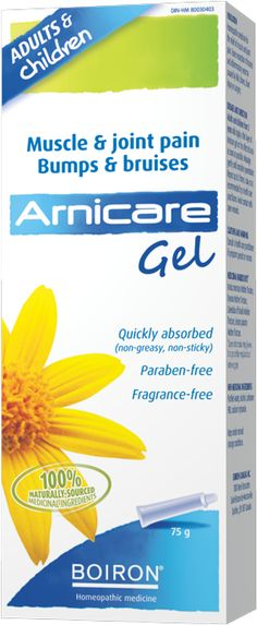 Boiron Arnicare Gel - Boiron Arnicare Gel is homeopathic medicine for the relief of muscle and joint pain. Homeopathic Medicine, Fragrance, Muscle, Health, Gift Ideas, Cream, Creme Caramel, Health Care, Muscles
