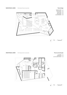 Gallery of Library in Anzin / Dominique Coulon & Associés - 25 Public Library Architecture, Public Library Design, Folding Architecture, Architecture Concept Diagram, Architecture Board, School Architecture, Public Libraries, Architecture Drawings, Contemporary Architecture