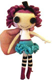 Lalaloopsy Doll - Free Amigurumi Pattern here: http://quirkyartistloft.blogspot.com.br/2012/01/pattern-crochet-lalaloopsy.html