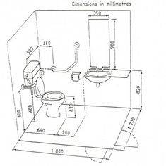Disabled Toilet Interior Design Sketches, Cafe Interior Design, Bathroom Floor Plans, Bathroom Flooring, Small Bathroom With Shower, Modern Bathroom, Cafe Floor Plan, Toilet Plan, Disabled Bathroom