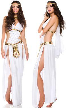 Amour Women's Greek Goddess Long Dress Halloween Costume | Details about Sexy…