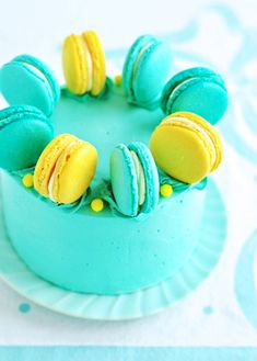 Lemon-Blueberry Macaron Delight Cake | Sweetapolita
