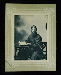 Antique Russian Photograph Grigori Rasputin Tsar Nicholas II Romanov Family RARE  