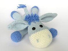 Donkey Ruda - Amigurumi Crochet Pattern / PDF e-Book / Stuffed Animal Tutorial by DioneDesign on Etsy https://www.etsy.com/listing/155225054/donkey-ruda-amigurumi-crochet-pattern